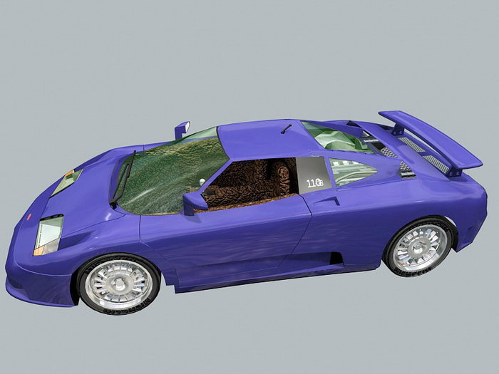 Bugatti EB 110 Super Sport 3d rendering
