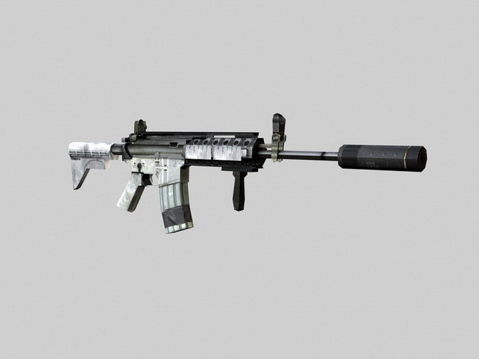 Military Assault Rifle 3d rendering
