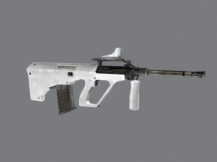 Tactical Submachine Gun 3d rendering