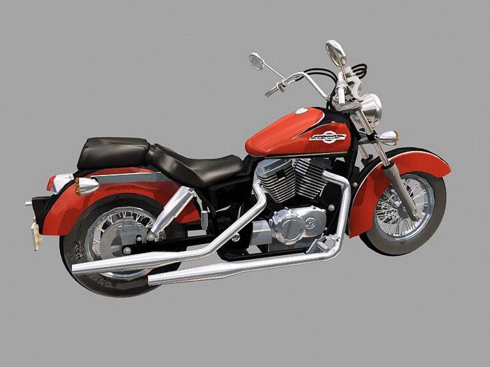 Honda Shadow 3d rendering
