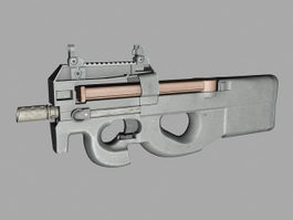 SMG P90 3d preview