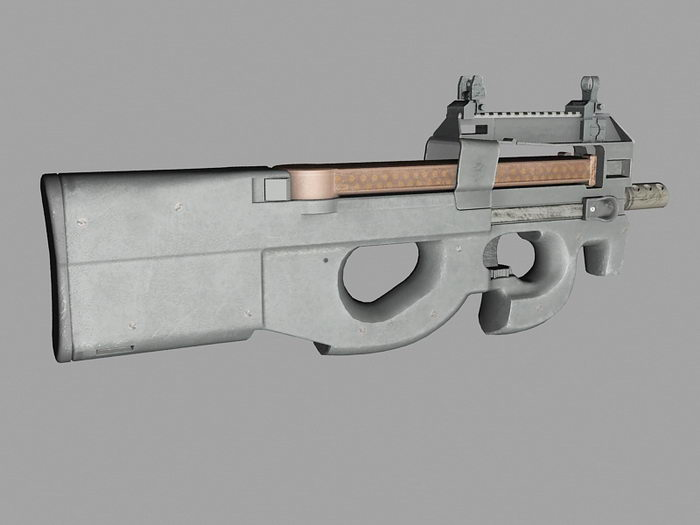 SMG P90 3d rendering