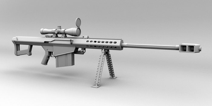 Barrett M107 Sniper Rifle 3d rendering