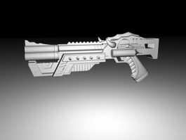 Sci-Fi Energy Handgun 3d preview
