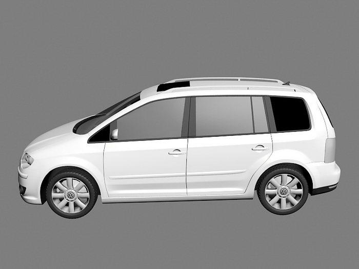 Volkswagen Touran Compact MPV 3d rendering
