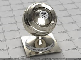 Glossy Nickel Metal vray material