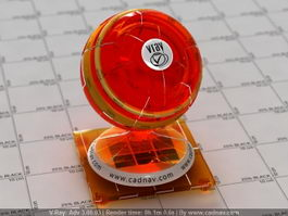Car Light Glass Orange Reflector vray material