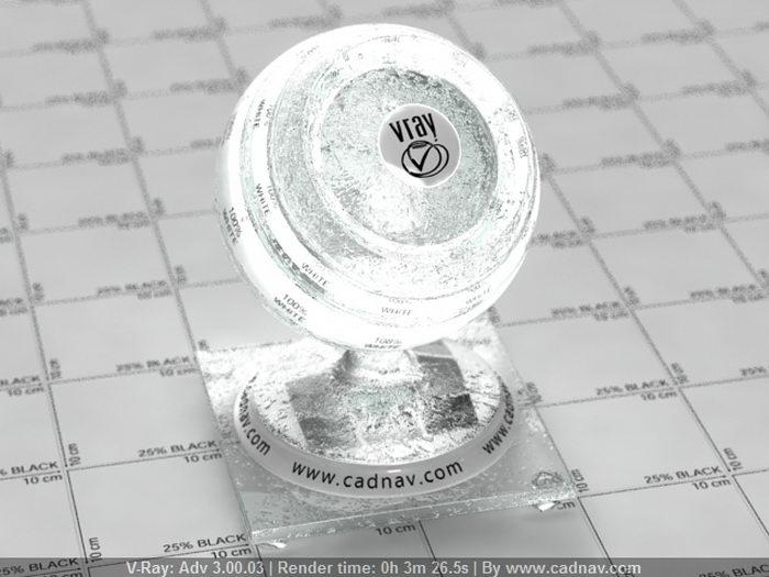 Dark Glass Droplet material rendering