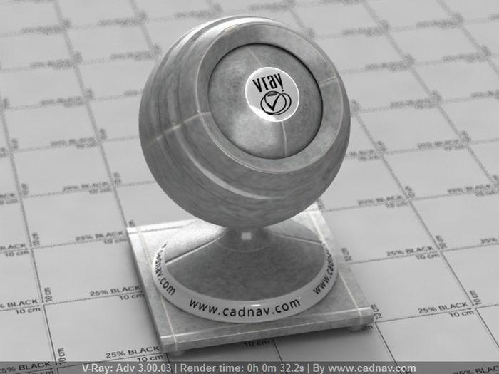 Grey Ceramic Tile material rendering