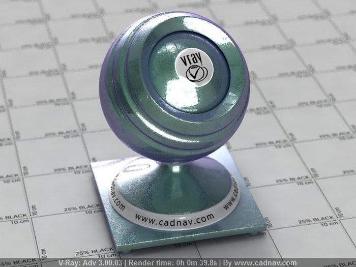 Carpaint Metallic Harlequin material rendering