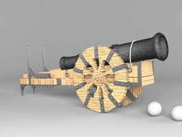 Antique Cannon 3d preview