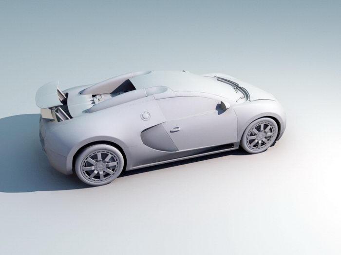 Bugatti EB 110 3d rendering
