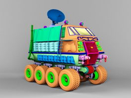 Mobile Satellite Communication Vehicle 3d preview