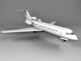 Yak-42 Clobber Jet Airliner 3d preview