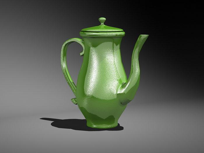 Vintage Teapot 3d rendering