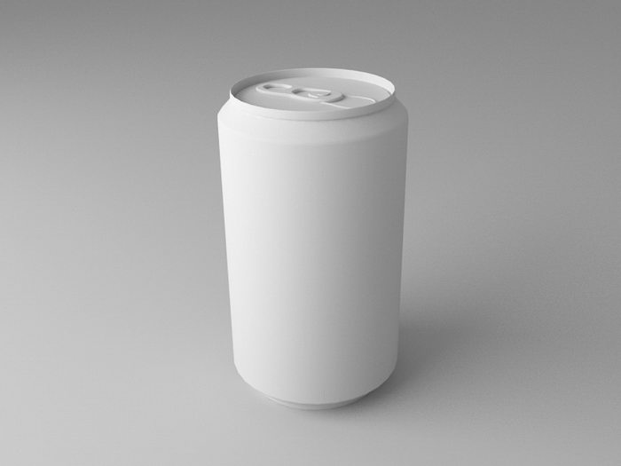 Tin Can 3d rendering