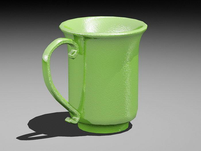 Coffee Mug 3d rendering