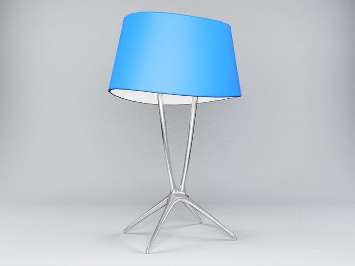 Blue Table Lamp 3d rendering