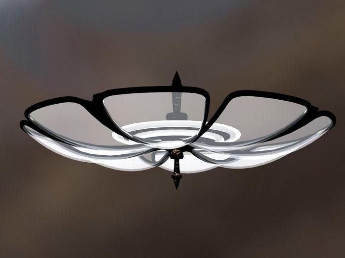 Magnolia Ceiling Light 3d rendering