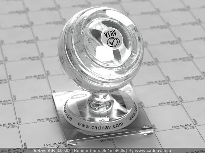 Dense Flint Glass material rendering