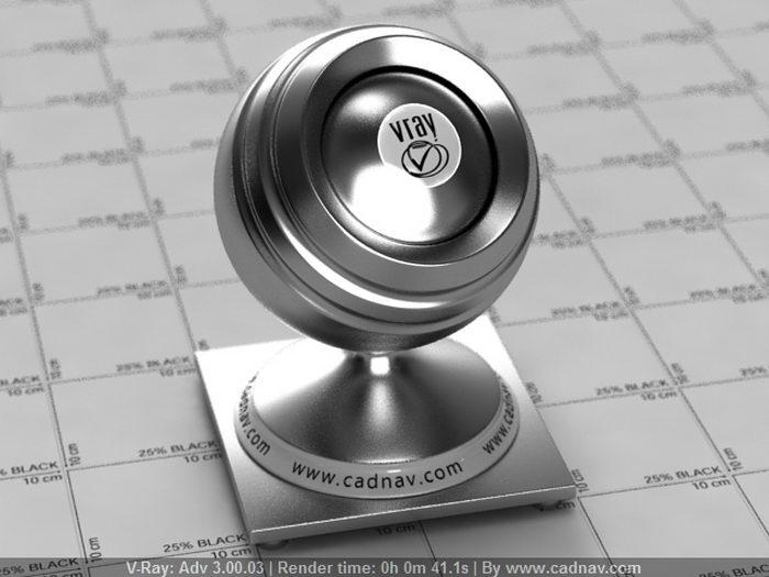 Alloy Steel material rendering