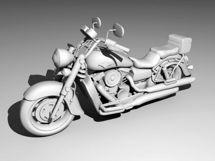 Large Motorcycle 3d rendering