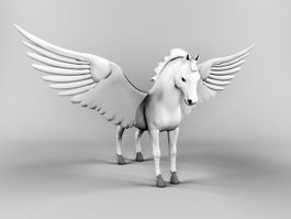 Pegasus Winged Horse 3d preview