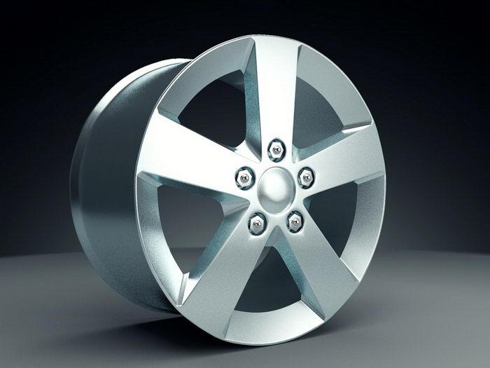 Automotive Rim 3d rendering