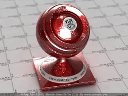 Red Sparkle Metallic Car Paint vray material