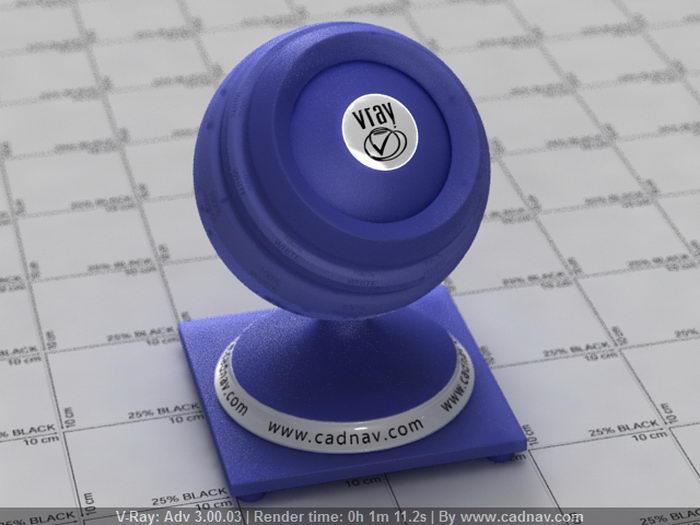 Royal Blue Plastic material rendering