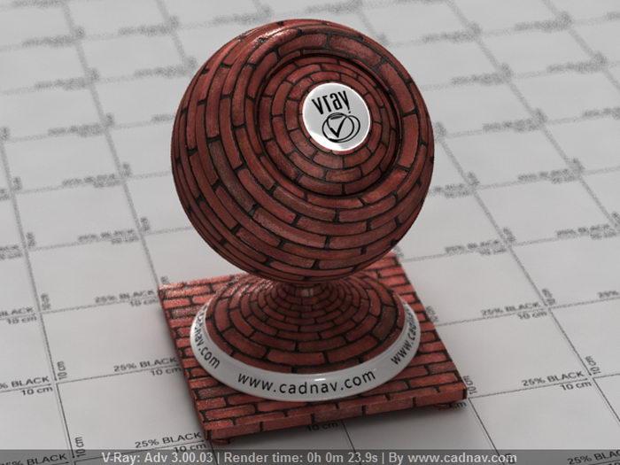 Red Brick Wall material rendering