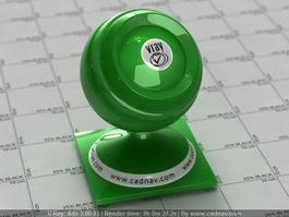 Plastic SSS Green vray material