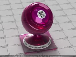 VioletRed glass vray material