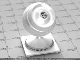 Glossy White Plastic vray material