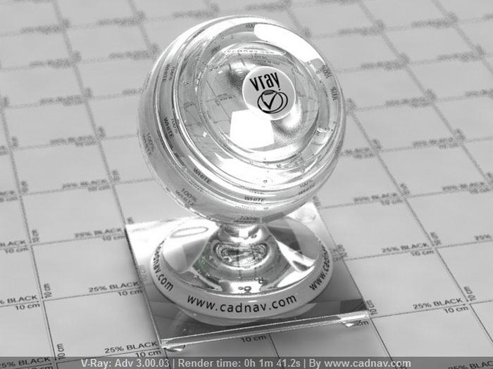 Glass Flint Lanthanum material rendering