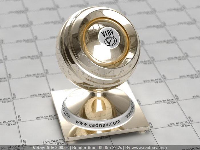 Jewelry Metal - Gold material rendering