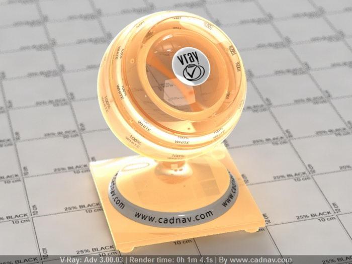 Amber glass material rendering