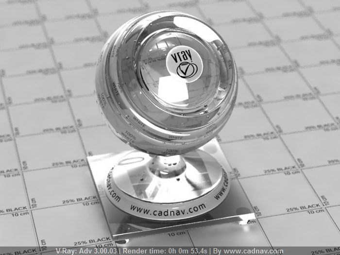 Reflective Stainless Steel material rendering