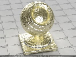 Natural Gold Nugget vray material