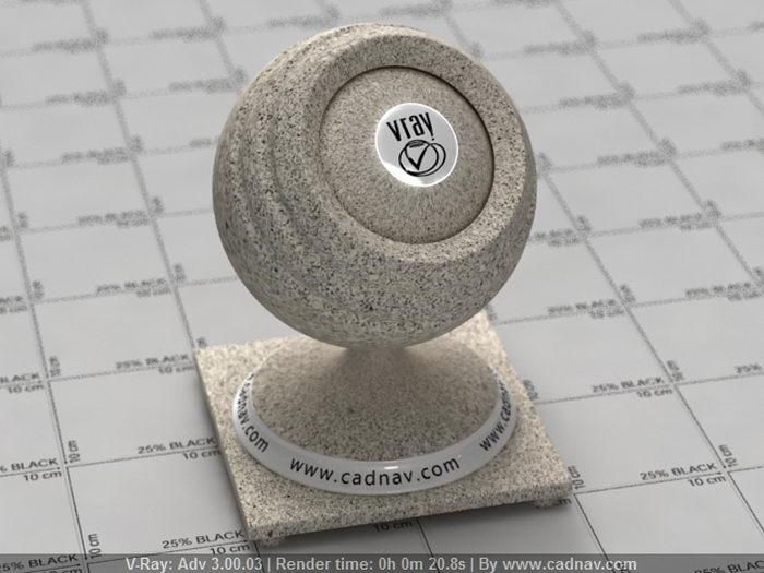 Ashen Gray Corian Quartz material rendering