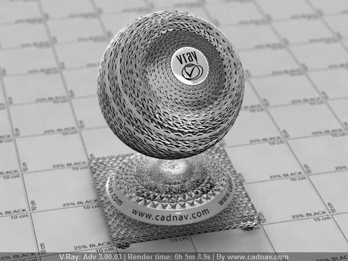 Ornamental Embossed Glass material rendering