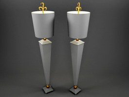 Tall Table Lamps 3d preview