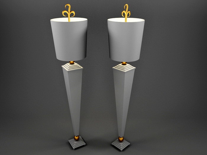 Tall Table Lamps 3d rendering