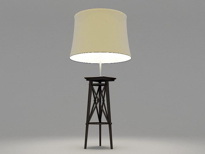 Tripod Table Lamp 3d rendering