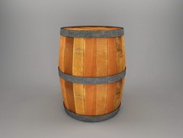 Old Wood Barrel 3d preview