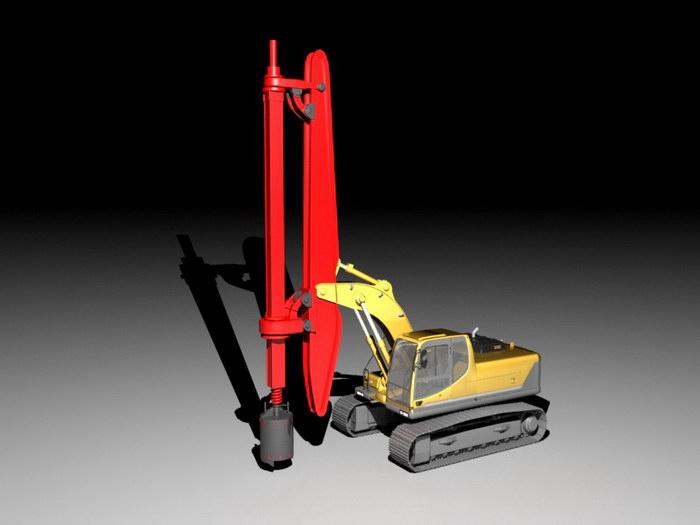 Mobile Drilling Rig 3d rendering