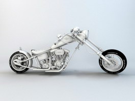 Harley-Davidson Chopper Motorcycle 3d preview
