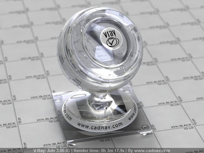 Clear Glassware material rendering
