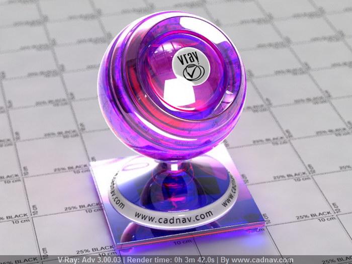 Sparkling Diamond material rendering