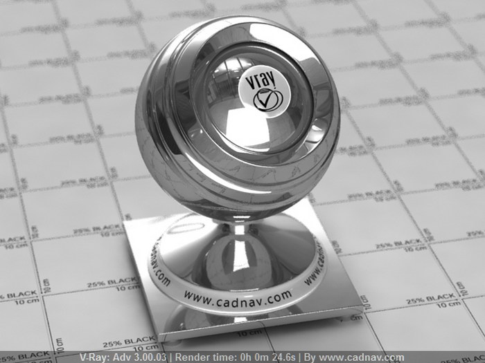 Mirror Polished Stainless Steel material rendering